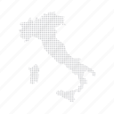 country, dashboard, data, dotted, europe, italy, map