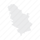 country, dashboard, data, dotted, europe, map, serbia icon