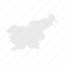 country, dashboard, data, dotted, europe, map, slovenia icon