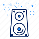 amplifier, audio, loud, multimedia, sound, speaker icon