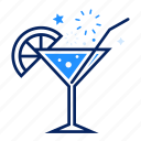 beverage, celebration, cocktail, drink, glass, lemon, party icon