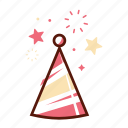 birthday, cap, celebration, decoration, festival, hat, party icon