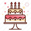 birthday, cake, celebration, decoration, festival, party, present icon