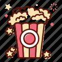 celebration, cinema, food, party, popcorn, snack, sweet