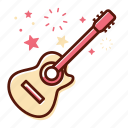 acoustic, guitar, instrument, music, play, song, sound icon