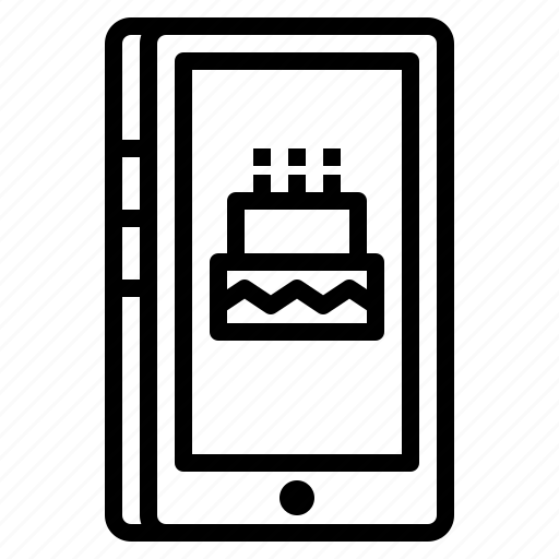 message, mobile, notification, party, smartphone icon