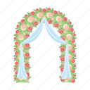 arch, celebration, decoration, love, romantic, service, wedding icon