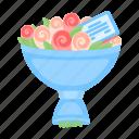 bouquet, decoration, floral, flower, gift, present, wedding icon
