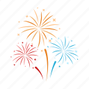 birthday, celebration, decoration, fireworks, holiday, party icon