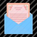 celebration, communication, envelope, invitation, mail, postcard, wedding icon