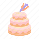 birthday, cake, dessert, food, sweet, wedding icon