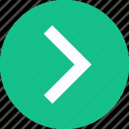 arrow, forward, go, next, point, pointer, right icon