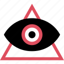 eye, find, look, triangle, views, watch, youtube icon