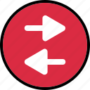 arrows, back, left, menu icon