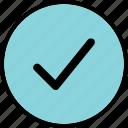 approve, check, good, mark, ok, safe icon