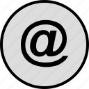 at, connect, email, mail, sign icon