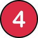 audio, four, music, number, track icon