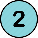 list, number, track, two icon