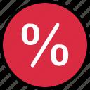 percentage, rate, revenue, save icon