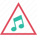 media, music, play, triangle, video icon