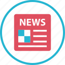 latest, news, newsletter, page, paper icon