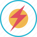 hero, light, lightning, power icon