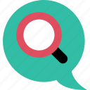 chat, conversation, message, search, sms, talk icon
