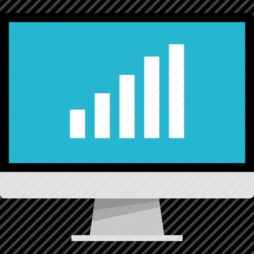 bars, data, mac, online, pc, web icon