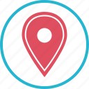 gps, location, pin, point icon