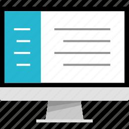 development, mac, monitor, pc, web icon