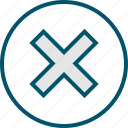 access, cross, denied, stop icon