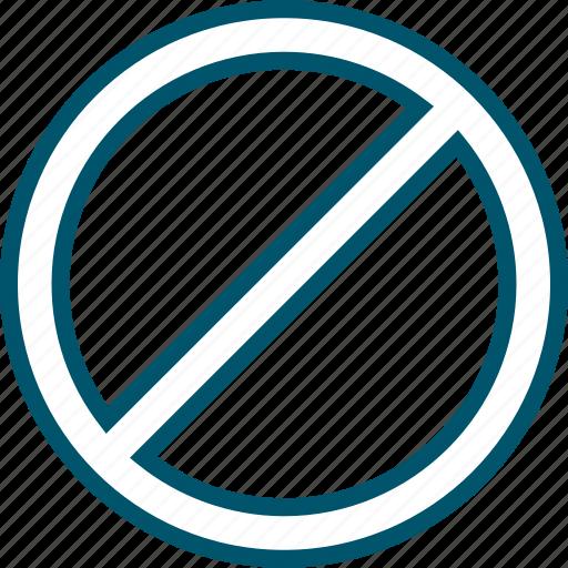 access, decline, denied, no icon