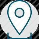direciton, gps, location, pin icon