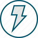 light, lightning, power icon