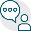 person, talk, user icon