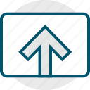 arrow, up, youtube icon