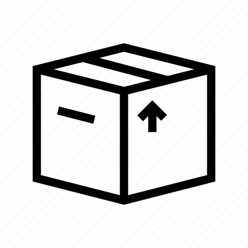 box, cardboard, crate, delivery, move, package icon