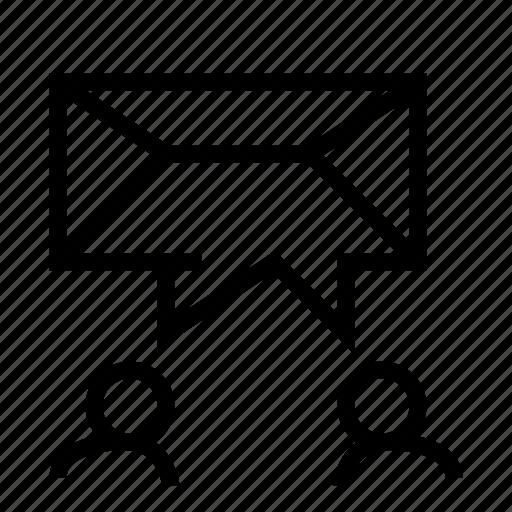 exchange, letter, mail, message, speak, talk icon