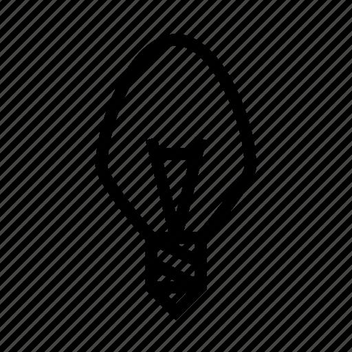 bulb, idea, light, old, retro icon
