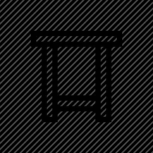 furniture, sit, stool icon