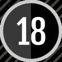 number, eighteen