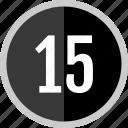 number, fifteen