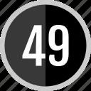 number, 49