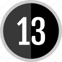 number, 13