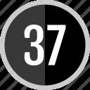 number, 37