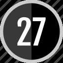 number, 27