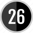 chart, count, number, six, twenty icon