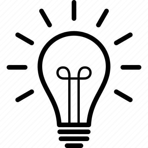 Bulb, idea, incandescent, light, lightbulb, on, vintage icon - Download on Iconfinder