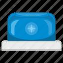 alarm, blue, signal, siren icon
