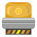 alarm, emergency, light, signal, siren icon